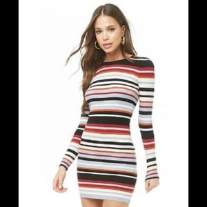 Forever 21 Striped 60's Mini Sweater Dress XS